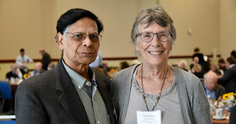 Former UMass Boston faculty attended the Retired Faculty Luncheon on October 4.